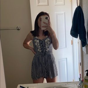 black and white checkered ROMPER